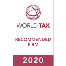 World Tax – Recommended Firm 2020